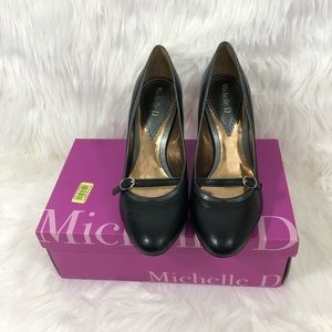 Black Mary Jane Style Heels Michelle D Size 7.5M